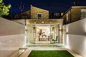 Basement conversion Fulham with access to a rear garden space.