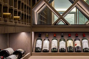 100 Bottle Climate controlled Wine Cellar in basement conversion Fulham.