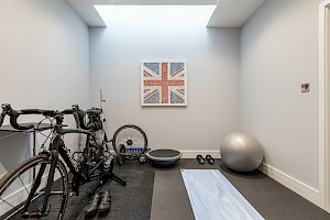 Fitness room in Basement conversion, Battersea, London