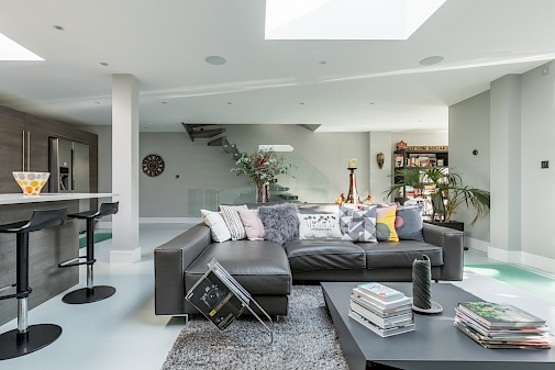 Basement entertaining space, Basement Conversion Battersea, London