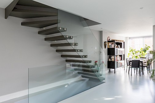 Floating Staircase, Basement Conversion Battersea, London