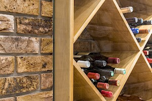 Bespoke wine cellar made for our customer who had a basement conversion, London.