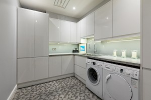 This basement conversion project in clapham had a utility room added.