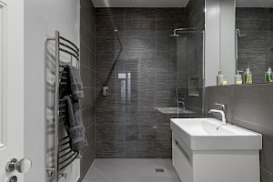 Wet Room completed in basement conversion, Clapham.