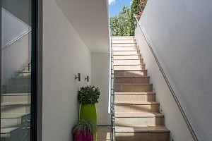 Rear lightwell with stair exit, Basement conversion Clapham.