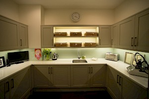 utility kitchen installation as part of a basement conversion, London.