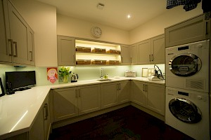 Utility room as part of a basement conversion in Clapham, London.